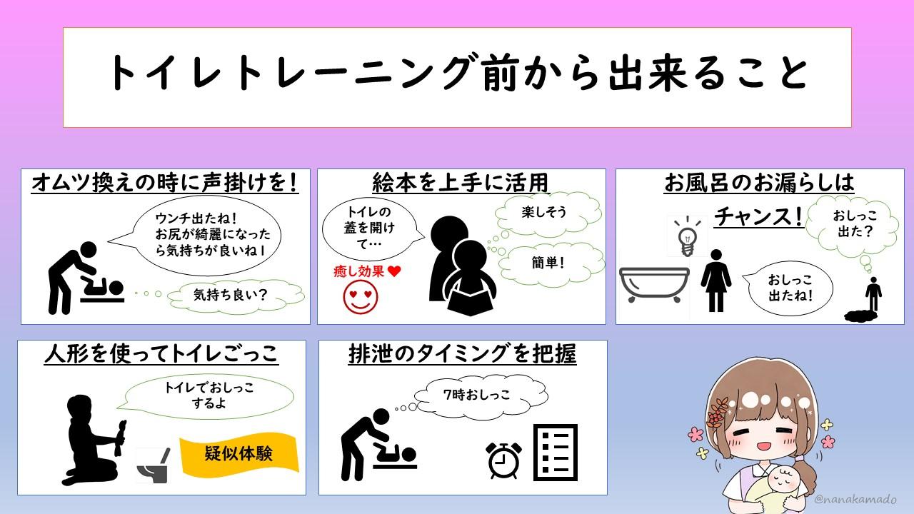 トイレトレーニング始める前から出来ること