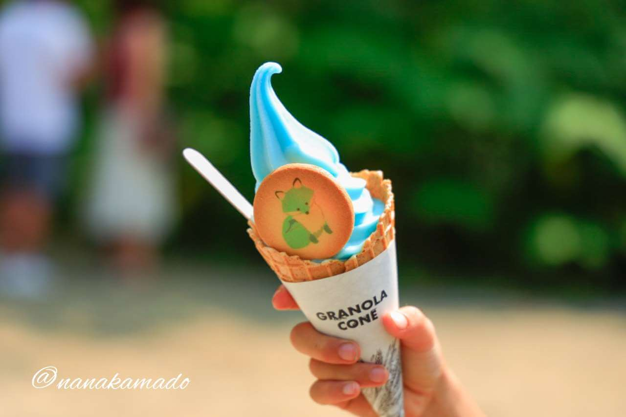 青い池ソフトクリーム